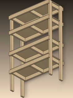 2X4 Storage Shelves Plans | You are starting with 10 2 x 4's and one 4' x 8' section of 1/2 ...