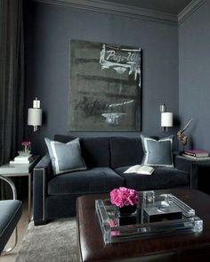 "1,269 Likes, 21 Comments - Ashley Stark Kenner (@ashleytstark) on Instagram: ""Just grey monotone with a pop of pink  • • • • • #art #interior #interiordesign #architecture…"""