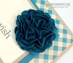 Stampin' Up demonstrator Mary Fish demos a cute 3D flower