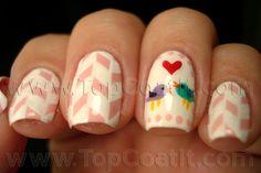 LoveBirds VALENTINE #nail #nails #nailart