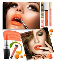 """orange crush"" by teto000 on Polyvore featuring beauty, Post-It, Givenchy, MAC Cosmetics, Anna Sui, Topshop, Lane Bryant and Max Factor"