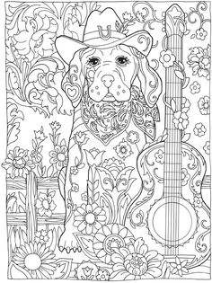 Welcome To Dover Publications Creative Haven Dazzling Dogs Coloring Book Marjorie Sarnat