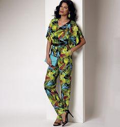 B6220, Misses' Dress and Jumpsuit