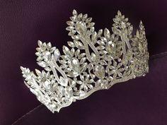 Bridal Silver Tiara and Crown for Brides Royal Crystal Tiara | Etsy Bridal Crown, Bridal Tiara, Bridal Headpieces, Royal Tiaras, Tiaras And Crowns, Beach Wedding Sandals, Silver Tiara, Wedding Gloves, Crystal Wedding