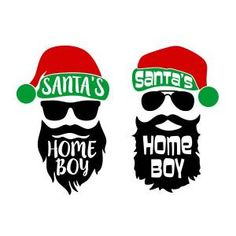 Santa's Home Boy Cuttable Design Boys Christmas Shirt, Christmas Vinyl, Xmas Shirts, Merry Christmas, Christmas Projects, Xmas Pjs, Cricut Christmas Ideas, Christmas Stencils, Christmas Graphics