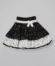 Look at this Chocolate & Black Skirt - Toddler & Girls on #zulily today!