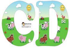 Alfabeto de la Granja. | Oh my Alfabetos! Farm Birthday, Birthday Party Themes, Happy Birthday, Alfabeto Animal, Farm Animal Party, Farm Unit, Animal Alphabet, Alice In Wonderland Party, Farm Theme