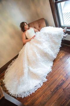 Garden Wedding Venue   Summer Strapless Ruffled Skirt Ballgown - Photo: Matt Andrews