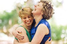 Beautiful and happy brides on their wedding day