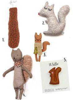 Knuffels à la carte blog: Squirrels!