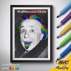 Lo que Einstein quería decir con su fórmula E=MC² es que la Energía es igual a Muchos Colores al cuadrado. #LaDiferenciaEsElColor #color #Einstein