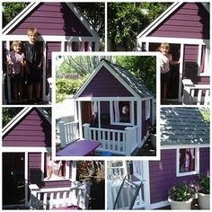 DIY playhouse. I think I just love this because its purple lol