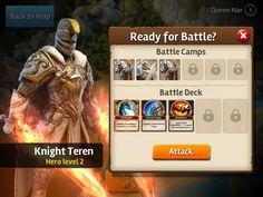Siegefall   Combat   Pre-Battle Check   UI HUD User Interface Game Art GUI iOS…