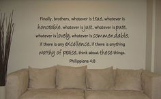 Vinyl Decal of Philippians 48 by SoundSayings on Etsy, $24.95