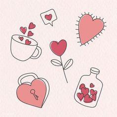 valentines doodle drawing drawn hand valentine doodles vector rawpixel drawings easy simple bujo disney memes canvas ilustration diy premium bilginom