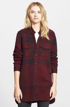 Burberry Brit 'Art' Plaid Knit Shirtdress | Nordstrom