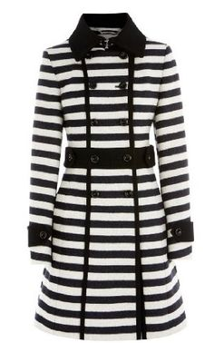 Karen Millen graphic stripe coat. Totally would wear this if I had no hips