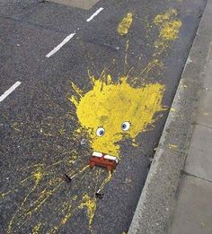 Sponge Bob Squarepants roadkill