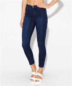 POLY RINSED SECOND SKIN CROP | Jeans | Clothing | Shop Womens | General Pants Online