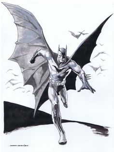 A very nice Batman by Kevin Nowlan, a very underrated artist me thinks...