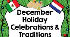 December Holiday Celebrations and Traditions Around the World Free Resources, Books, and Activities December Holidays, Winter Holidays, School Projects, School Ideas, Computer Lab Classroom, December Calendar, Classroom Organization, Girl Scouts, Social Studies