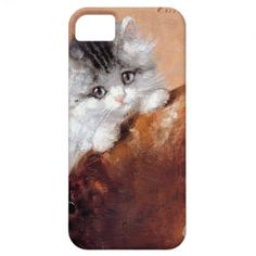 Picture scratching of kitten iPhone 5 covers
