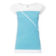 Oberteile - Striped Cap Sleeve boyblue/white Größe S - ein Designerstück von ThokkThokk bei DaWanda