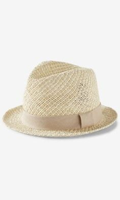 two tone open weave fedora hat from EXPRESS Accesorios De Moda 795910aa3228