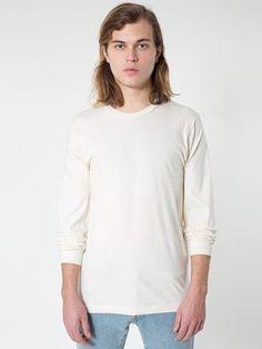 American Apparel Unisex Organic Natural Organic Fine Jersey Long Sleeve T-Shirt American Apparel, Organic Cotton, Menswear, Tunic Tops, Fashion Outfits, Tees, Long Sleeve, Mens Tops, T Shirt
