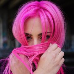The Artistry Of Hair | Hot pink hair