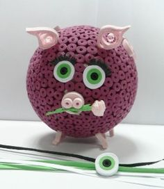 how to make a quilling pig