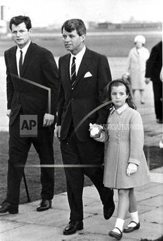 Ted Kennedy, Bobby Kennedy with their niece Caroline Kennedy