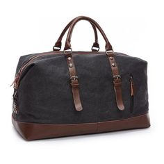 Original Z.L.D Canvas Leather Men Travel Bags Carry on Luggage Bags Men Duffel Bags Travel Tote Large Weekend Bag Overnight DB74