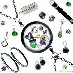 You'll look Spook-tac-ular the Halloween in your Origami Owl locket, earrings and bracelet! Questions? owlisallyouneed@gmail.com
