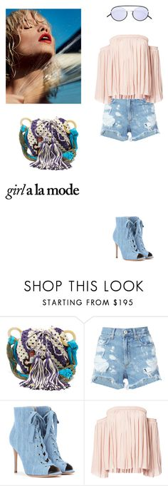 """""""Girl a la mode"""" by zabead ❤ liked on Polyvore featuring Peter Pilotto, rag & bone/JEAN, Gianvito Rossi, Elizabeth and James, Hannah Marshall and Christian Dior"""