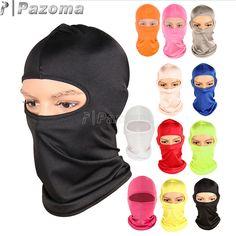Vente chaude Moto Vélo Ski Neck Protection Extérieure Balaclava Masque Facial Ultra Mince Respirant Coupe-Vent