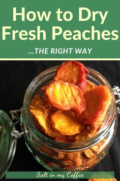 Dried peaches are a wonderful treat but its easy to turn them into hard nearlyinedible crisps Heres the easy method I use every year for drying peaches in a dehydrator so. Canning Recipes, Raw Food Recipes, Vegetable Recipes, Healthy Recipes, Jar Recipes, Freezer Recipes, Freezer Cooking, Drink Recipes, Dried Peaches