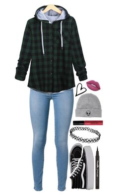 """""""find your way out"""" by weirdestgirlever ❤ liked on Polyvore featuring L'Agent By Agent Provocateur, 7 For All Mankind, Vans, Maybelline, Lord & Berry, With Love From CA and Lime Crime"""