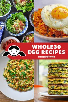 If youre looking for cheap fast and easy recipes you cant beat egg recipe! You can whip up healthy and tasty meals in a flash for breakfast lunch or dinner! Healthy Egg Recipes, Easy Whole 30 Recipes, Paleo Whole 30, Tasty Meals, Quick Easy Meals, Whole30 Recipes, Healthy Meals, Whole30 Plan, Cheap Recipes