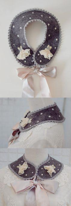 mini dress collar Collar Dress, Neck Warmer, Fiber Art, Needlework, Collars, Diy, Textiles, Embroidery, Sewing