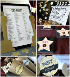 Oscars Party ideas, with printables too!