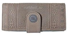 Rip Curl PUERTO GREY C'Book Womens GENUINE LEATHER Wallet Purse New in box