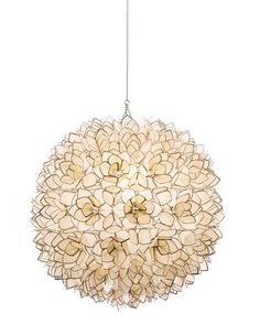 Capiz-Shell Pendant Light - Neiman Marcus