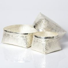 Traditional Silver Kottan - The woven pattern remains intact, and this silver bowl makes the perfect gift to serve guests on special occasions, or as a memorable and ceremonial wedding or housewarming gift.