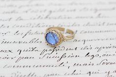 Real Blue Morpho Ring Shiny Brass Adjustable Ring by BugUnderGlass, $22.00
