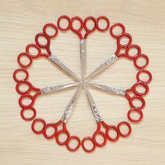 7 pairs of training scissors.