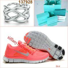 premium selection b53ad 0d787 Cheap Nike Free Run 3 Womens Hot Punch Pink Big Net Tiffany CO  Rings(2013tiffany