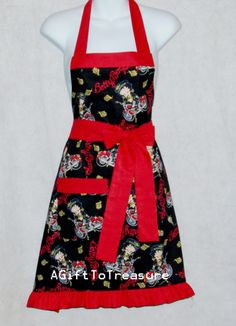 Pretty Betty Boop Apron.  Are you one of her fans?  www.AGiftToTreasure.com