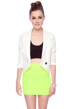 A white blazer anchors all the bold pieces you're rocking this season. And, it goes from day to night in a snap.