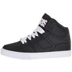 Osiris NYC83 VLC (Black/White/White) Men's Skate Shoes ($60) ❤ liked on Polyvore featuring men's fashion, men's shoes, men's sneakers, mens white sneakers, mens white shoes, black and white mens shoes, mens black and white sneakers and osiris mens shoes